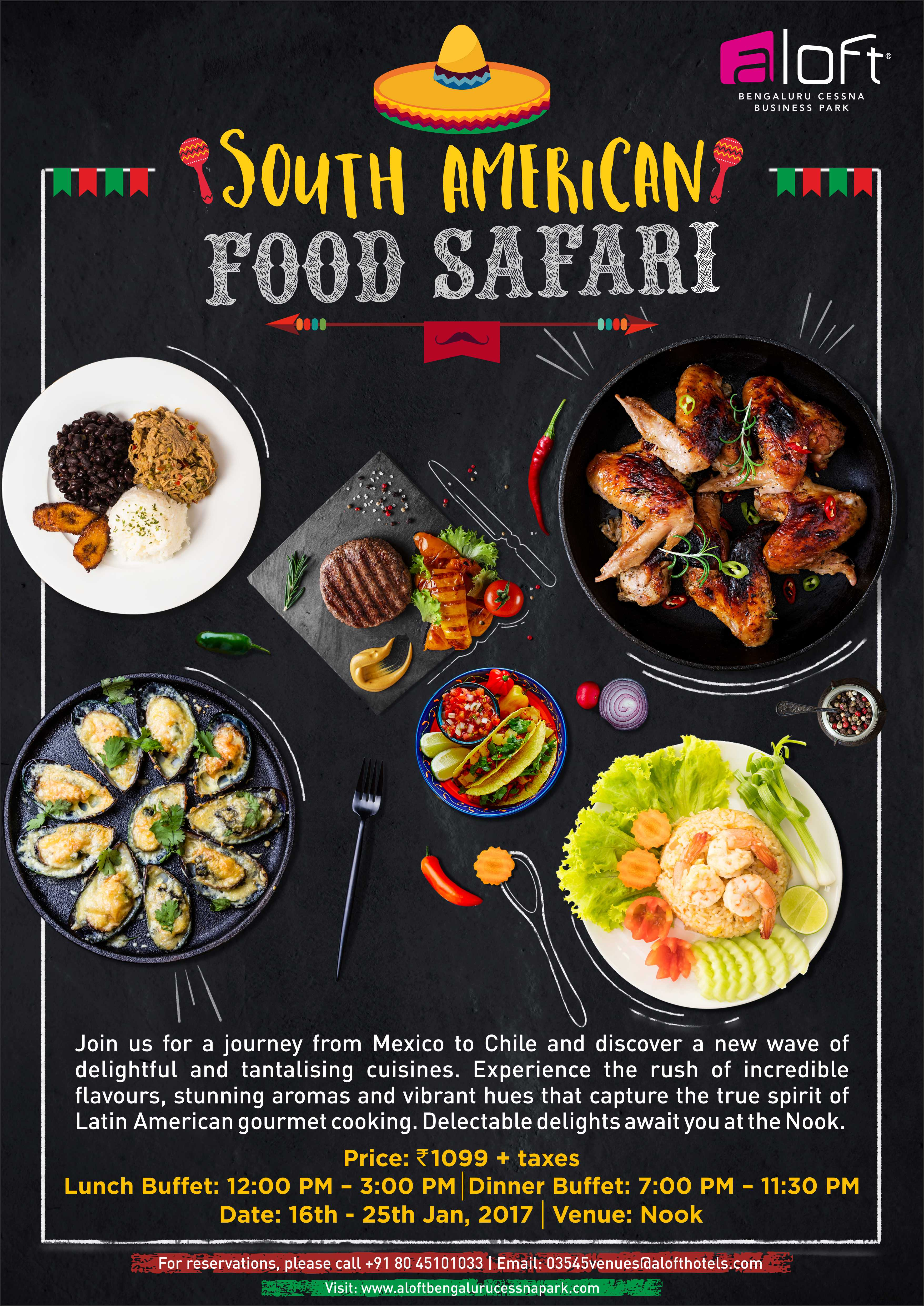 South american food safari at nook aloft bengaluru the foodie tales south america has been the the land of carnivals adventure and music and great culture the colombian salsa or the foot stepping brazilian samba forumfinder