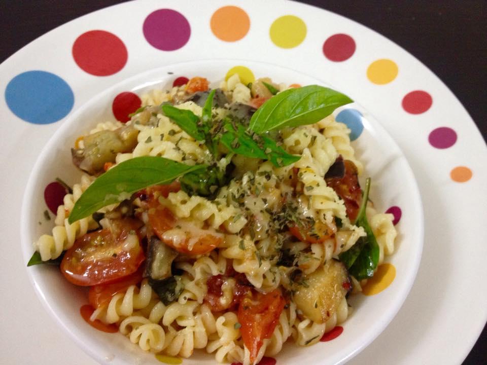 Pasta Alla Nitin -Eggplant & Tomato Sauce
