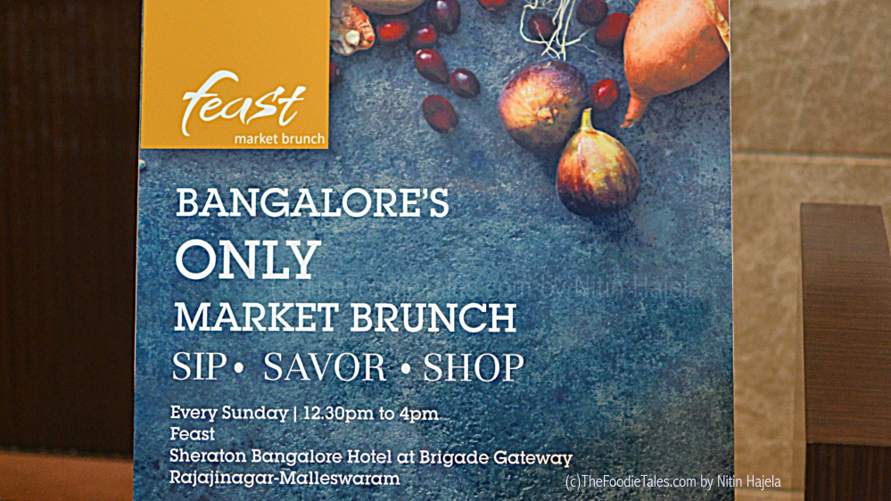 Feast's Market Brunch at Sheraton Bangalore