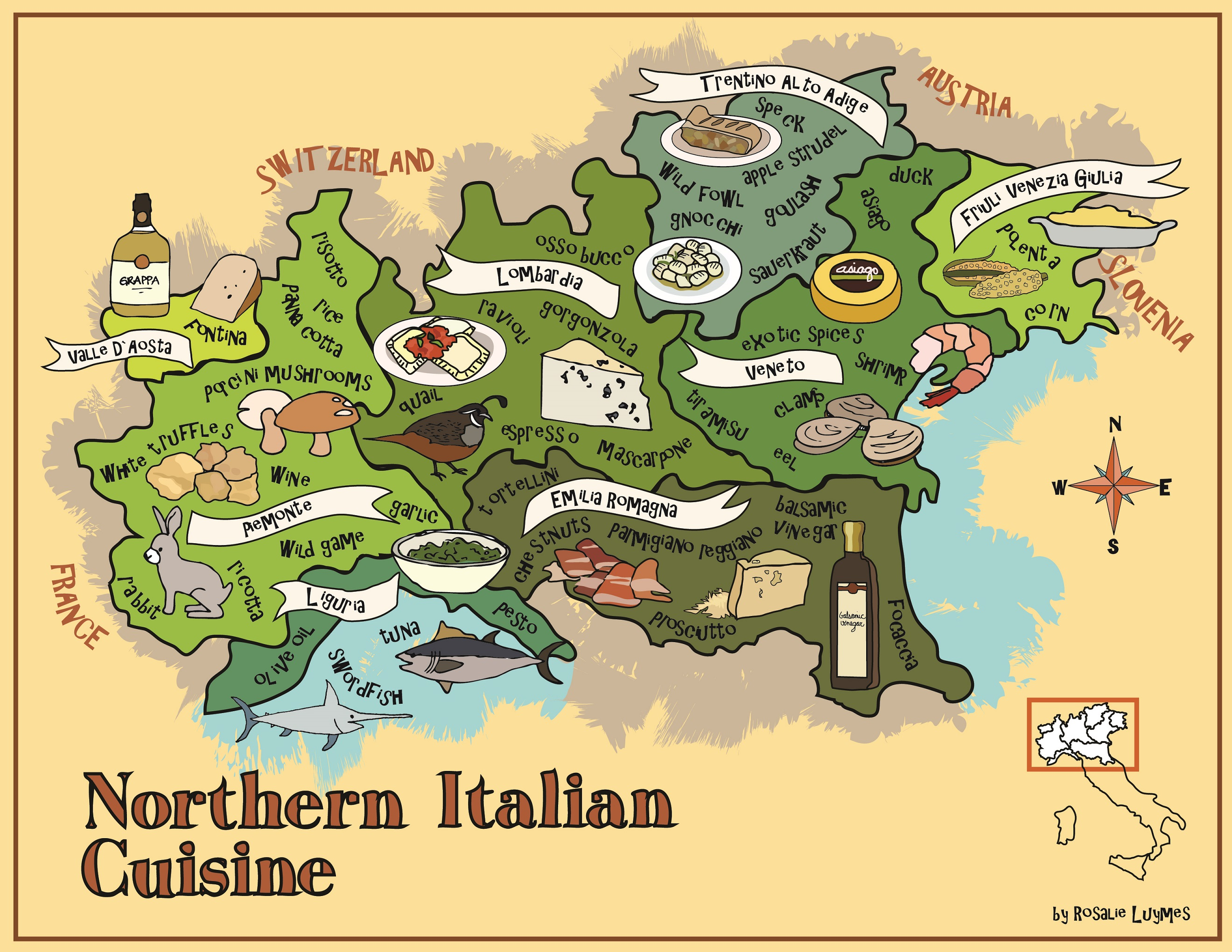 Italy Food Map The Foodie Tales